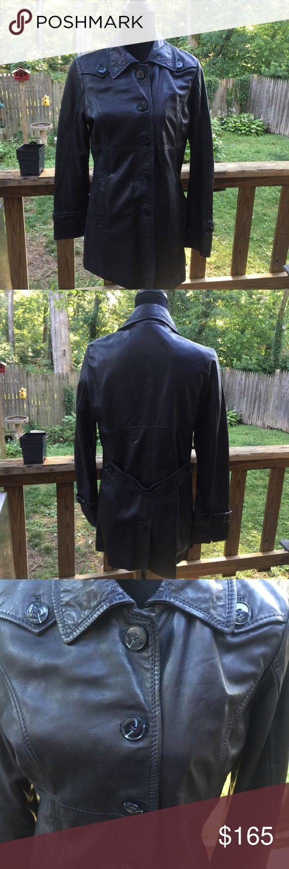 Oakwood Lambskin Leather Jacket Amazingly soft and well made Lambskin leather jacket. European brand. Deep navy blue color. Oakwood Jackets & Coats