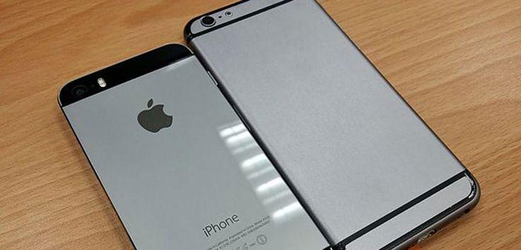 """Neues iPhone 6: Wasserdicht und mit hässlichen Streifen? - http://apfeleimer.de/2014/05/neues-iphone-6-wasserdicht-und-mit-haesslichen-streifen -                 Seit geraumer Zeit machen iPhone Mockups die Runde, die ein größeres wenn auch sehr flaches iPhone 6 mit recht dicken """"Streifen"""" auf dem Rücken zeigen und damit ein bisschen an die Rückseite des HTC One M8 erinnern. Eine weit verbreitete Reaktion auf diese beiden dic..."""