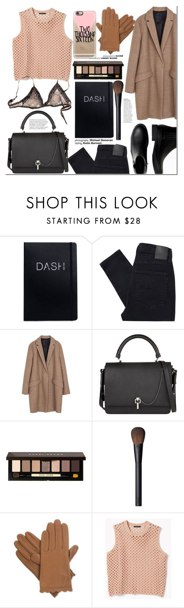 """Nude"" by nastya-d on Polyvore featuring F, Nobody Denim, Zara, Carven, Bobbi Brown Cosmetics, NARS Cosmetics, 3.1 Phillip Lim, Isotoner, Theory and Banana Republic"