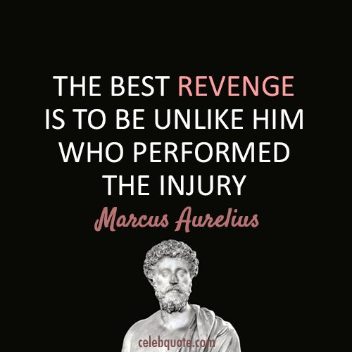 Quotes From the Show Revenge | Marcus Aurelius Quote (About injury, revenge)