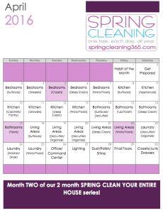 Limpieza de Primavera Casa Lista de verificación - La limpieza de primavera 365