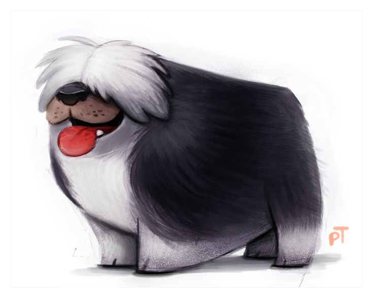 Day 572. Sheepdog by Cryptid-Creations.deviantart.com on @deviantART