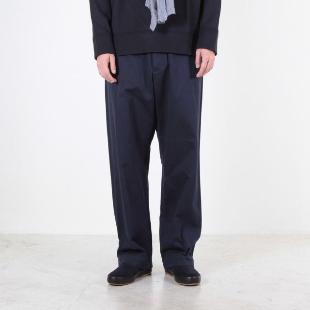 YAECA Chino Cloth Pants - Wide - Navy - Silver and Gold Online Store