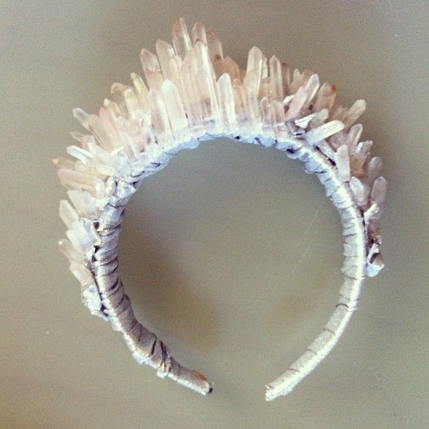 Been working on this crystal quartz crown for magazine shoot this week with @LaBreah Welliver Welliver Welliver