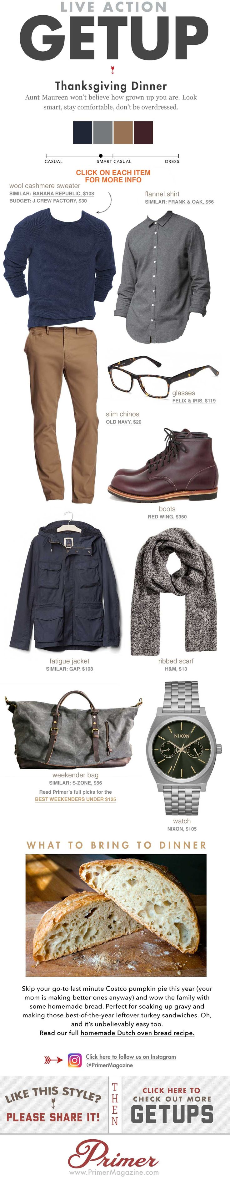 what to wear to Thanksgiving dinner men outfit ideas