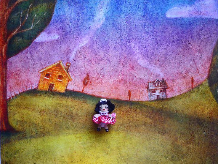 "Nuh:  Mi primer infante, muñeca de trapominiatura (1 1/4"").  Mi first kid, miniature rag doll (1 1/4"").By Georgina Verbena"