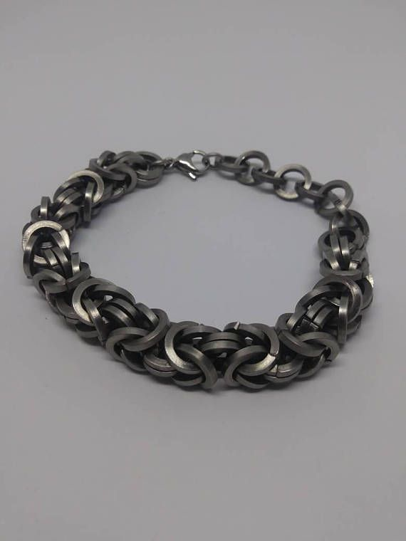 Stainless Steel Byzantine Square Cut Chain