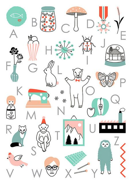 Poster ABC by Audrey Jeanne, via Flickr