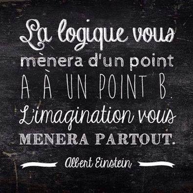 Images Proverbes Citations : La logique vous ménera d'un point A à...