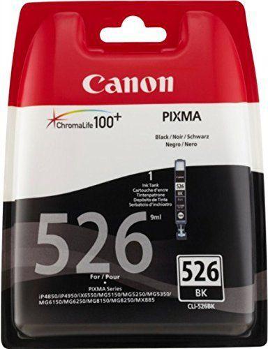 Canon CLI-526 Cartouche d'encre d'origine Noir: encre originale pour Canon Pixma IP4850/MG5150, noir Capacité: env. 520 pages Pixma…