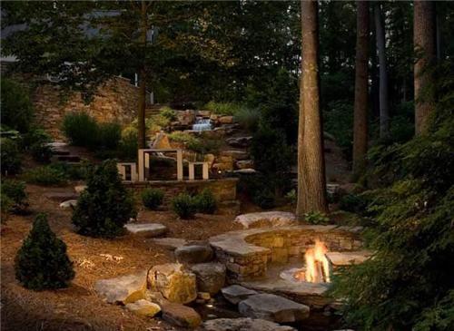 17 best images about landscaping firepit on pinterest for Landscaping rocks charlotte nc