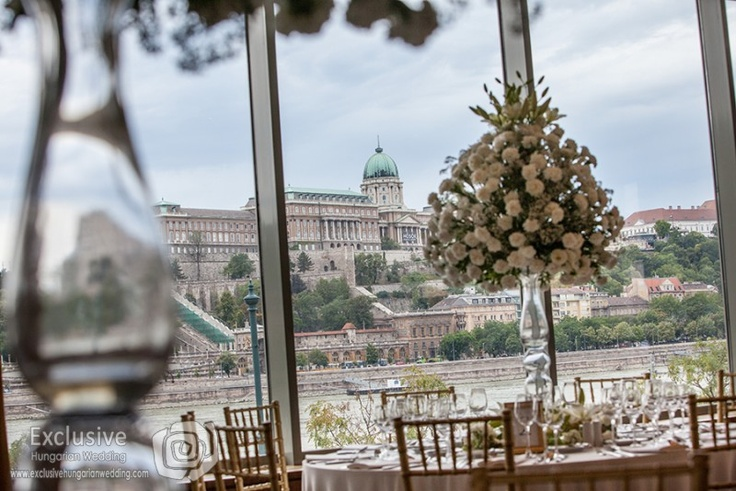 The view of the castle from Mariott at wedding time in Budapest