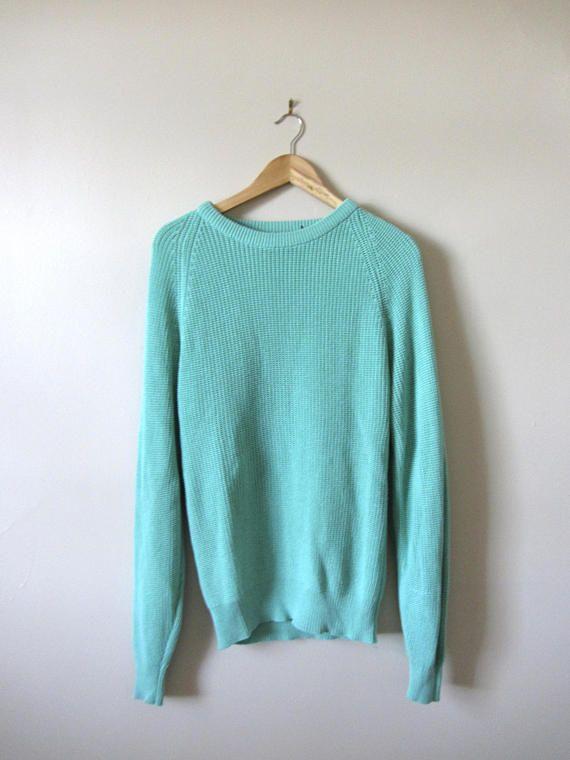80s Unisex Oversized Mint Sears Sweater