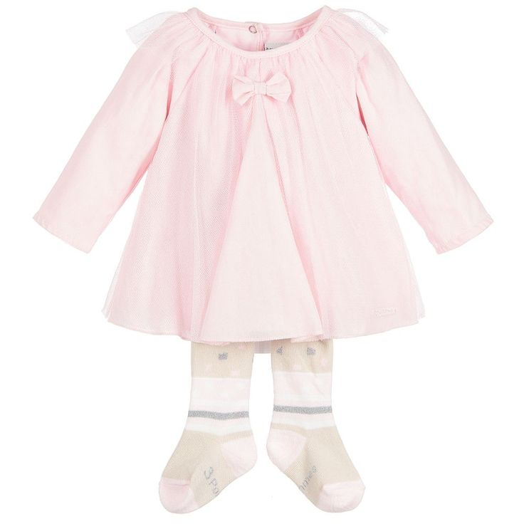 https://www.childrensalon.com/checkout/cart/#a_aid=51f456f914eb5 Baby girls will look as pretty as a picture, in this pink dress and tights set from 3Pommes. Forming part of the 'Pink Baby' range, this adorable outfit with soft tulle and glitter detail, is both comfortable enough for every day and smart enough for a special occasion.