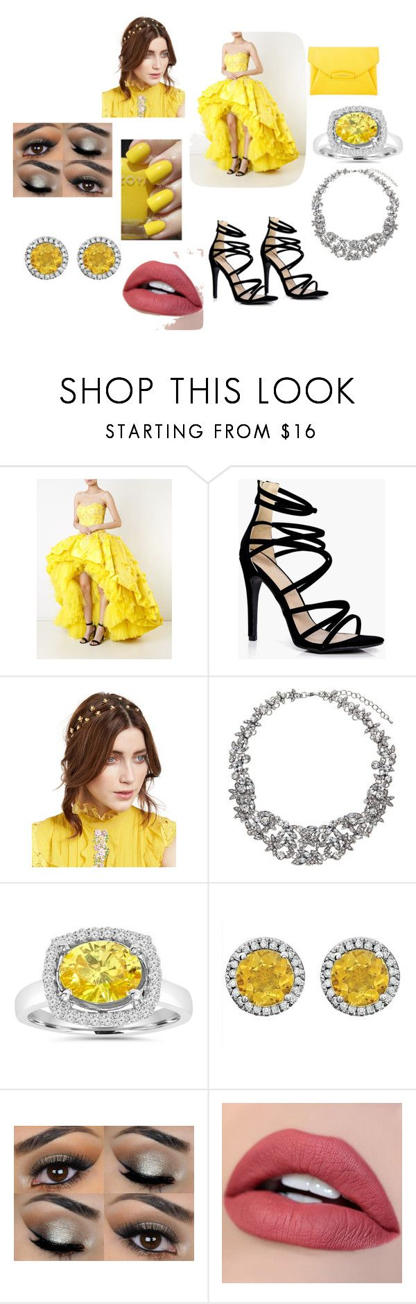 """Sophisticated Sunshine"" by outfit-creator ❤ liked on Polyvore featuring Mikael D, Boohoo, Givenchy, Jennifer Behr, John Lewis and Zoya"