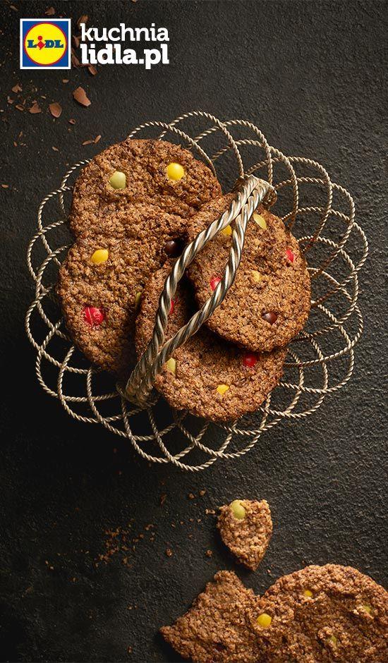 Kolorowe ciasteczka owsiano-czekoladowe. Kuchnia Lidla - Lidl Polska. #lidl #pawel #ciasteczka
