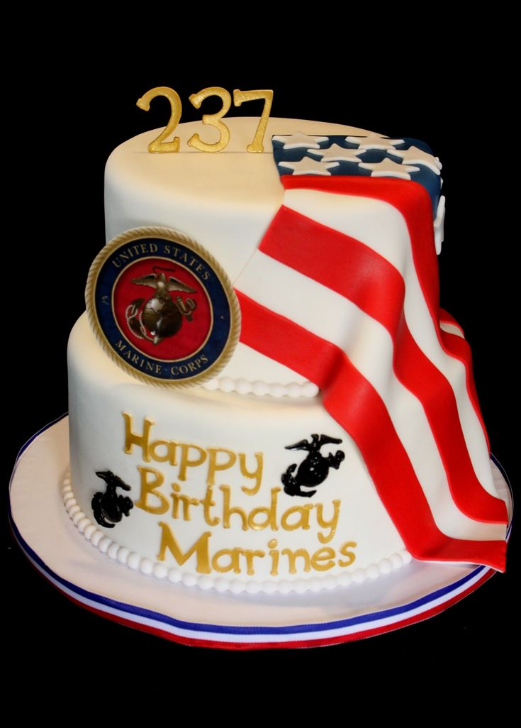 Marine Corps Birthday Cake Delicious Creations By Me