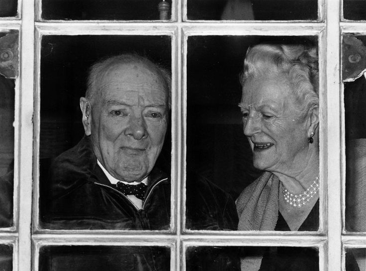 30 November 1964: Former Prime Minister Sir Winston Churchill and his wife Lady Clementine Churchill celebrate his 90th birthday at their home in Hyde Park, ...