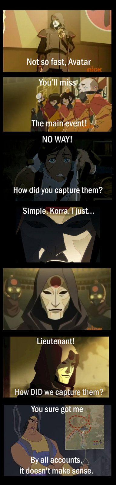 The avatar's new groove.Avatar Awesome, Avatar Humor, Amon And Korra, Airbenderth Legends, Nerdygeeki Stuff, Avatar Atlalok, Legend Of Korra, Legends Of Korra Humor, Emperors New Groove