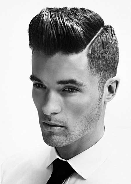 Slicked and Buzzed Hairstyle