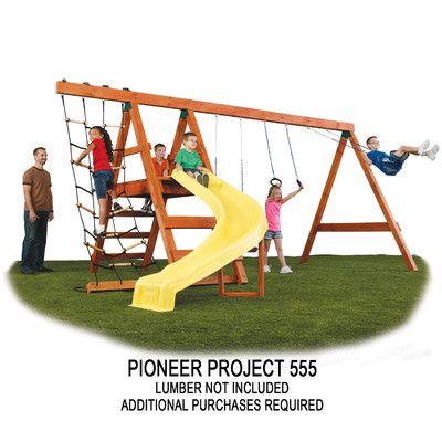 Swing-n-Slide Ready to Build Custom Pioneer DIY Swing Set Hardware Kit - Project 150 & Reviews | Wayfair