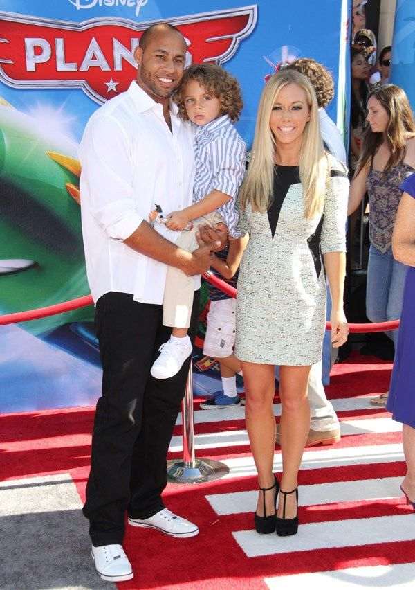 Kendra Wilkinson & Hank Baskett with Hank Jr.