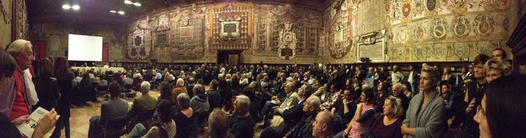 Ideas from Massimo Osti Book Launch at #Bologna in the stunning Aula dello Sabat Mater, 25 october 2012.