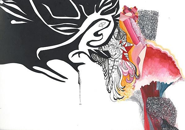 """Sophie Truant  """"Shine"""", 32 cm X 24 cm, techniques mixtes"""
