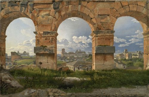 Christoffer Wilhelm Eckersberg (1783-1853) - A View through Three of the North-Western Arches of the Third Storey of the Coliseum in Rome