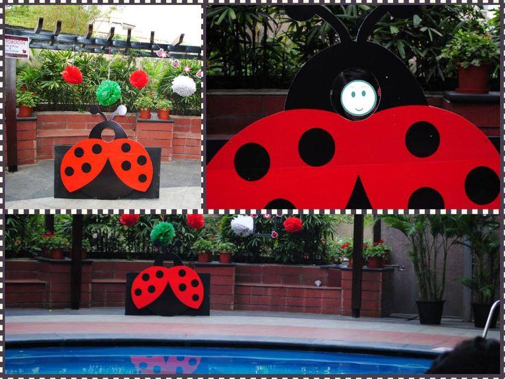lady bug photo booth
