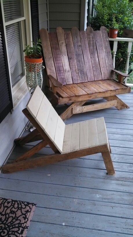 17 Best ideas about Pallet Chairs – Chairs from Pallets