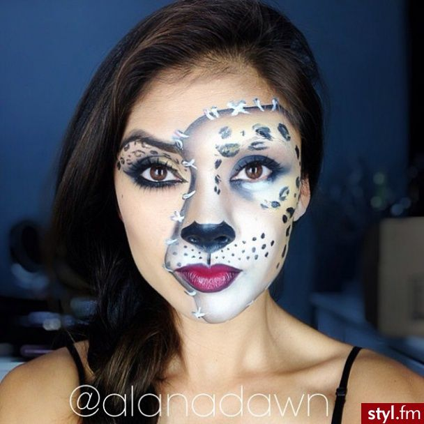 halloween make up cat leopard pretty halloween makeup pinterest cats animals and cat. Black Bedroom Furniture Sets. Home Design Ideas