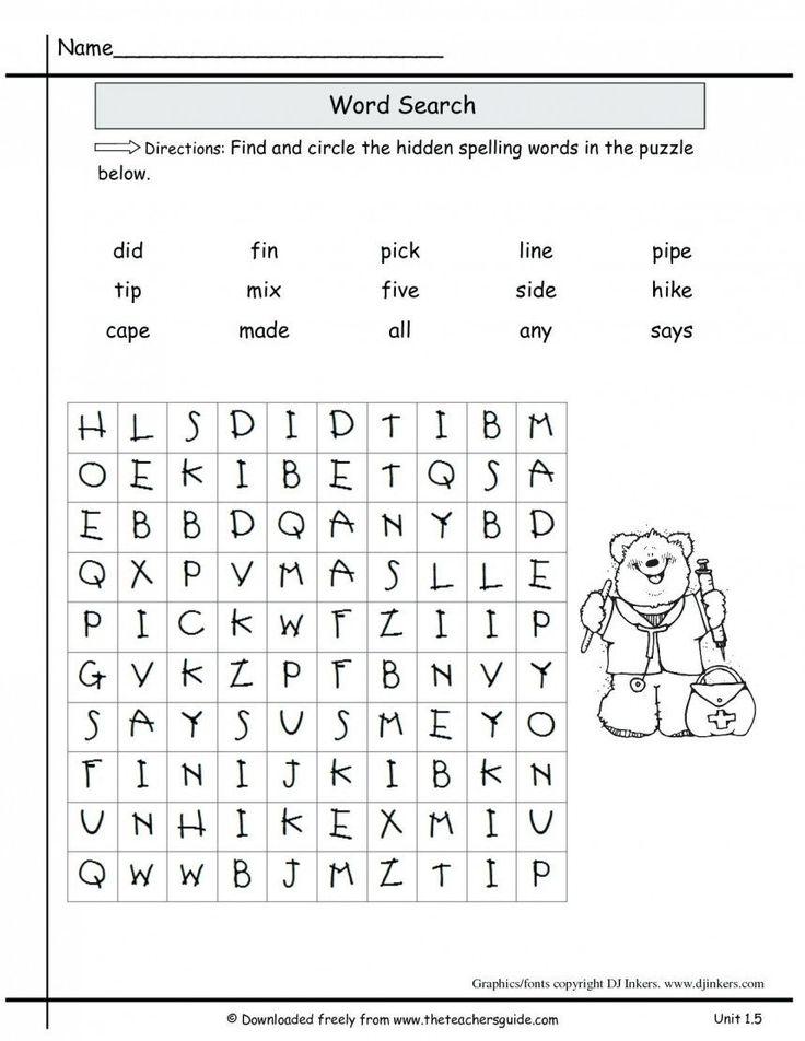 Spelling Worksheets 6th Grade 2nd Grade Spelling