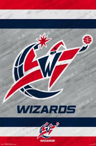 images of the washington wizards basketball team logos | Washington Wizards NBA Basketball Official Team Logo Poster - Costacos ...