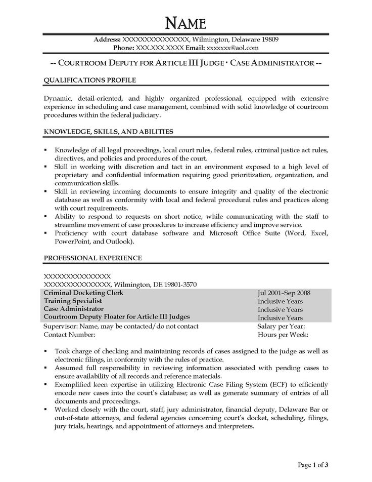 free federal resume sample from prime case administrator after - case administrator sample resume