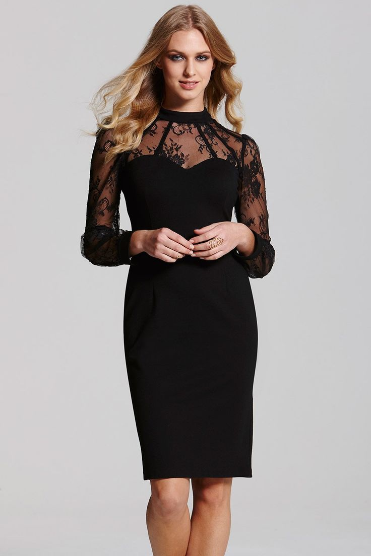Paper Dolls Black Lace Overlay Dress - Paper Dolls from Little