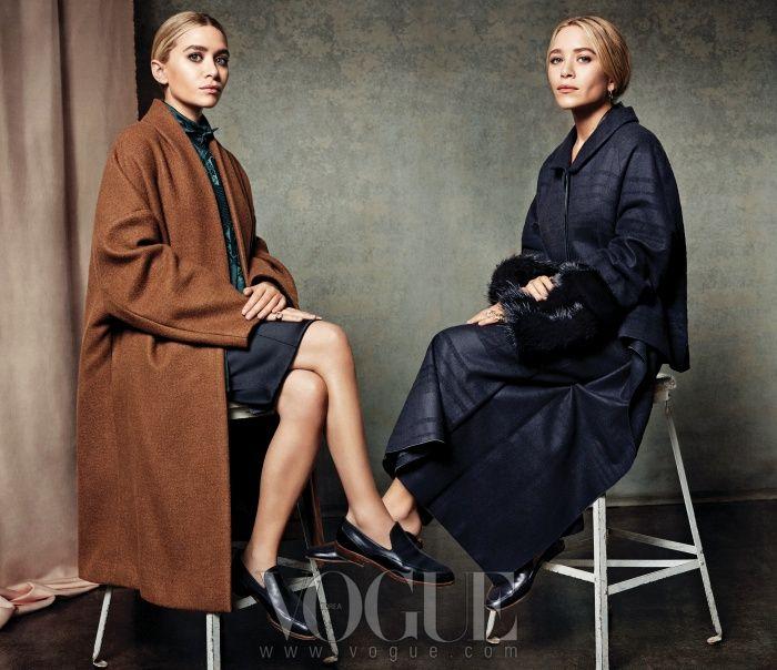 Mary-Kate Olsen and Ashley Olsen for VOGUE.co.kr