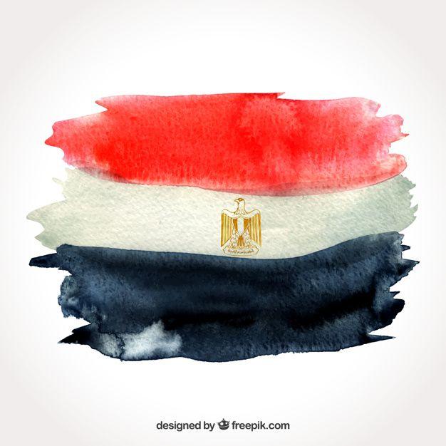 Download Watercolor Egyptian Flag Compositio For Free In 2020 Egyptian Flag Egyptian Flag