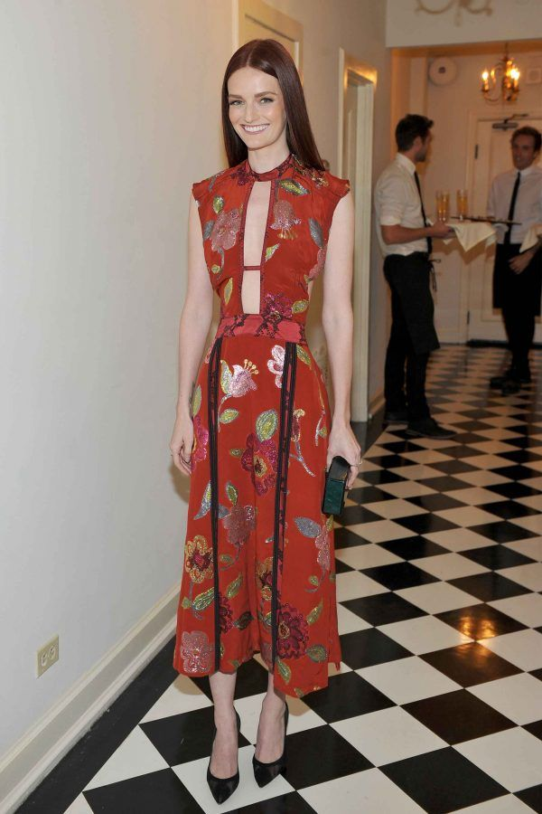 Lydia Hearst at the Burberry and Vanity Fair Pre-Britannia Awards Party.