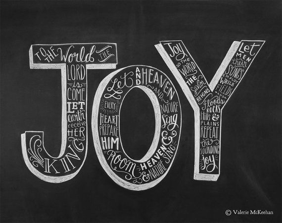 Joy To The World - 8 x 10 Print - Chalkboard Christmas Decor - Religious Christmas Sign - Chalkboard Art - Christmas Art on Etsy, $24.00