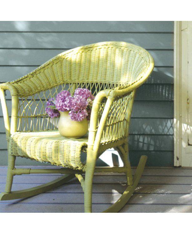 Best + Painting wicker furniture ideas on Pinterest