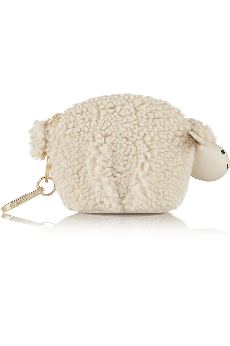 Tory Burch | Larry Lamb faux shearling keychain