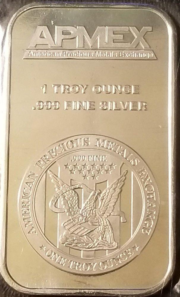 Apmex Mint 1 Oz Silver Bar 999 Fine Silver Bullion Mint Sealed Silver Bullion Silver Bars Apmex