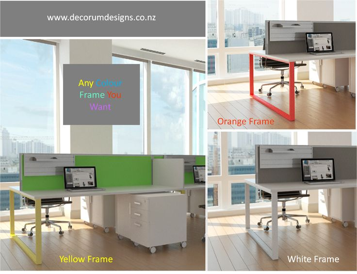 Coloured Desk Frames It's one way to inject a little bit of colour into your office space without over whelming it