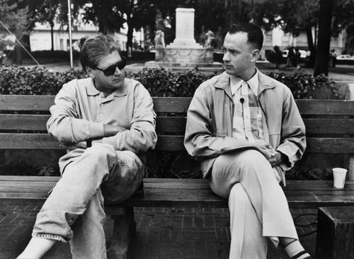 """Forrest Gump"" director Robert Zemekis & Tom Hanks"
