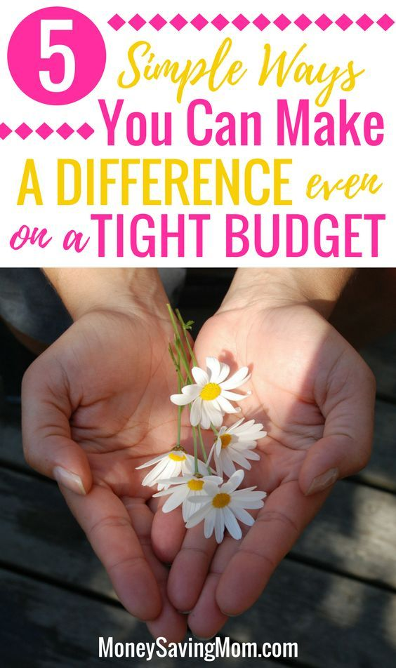 Money Makes Difference Even In >> 5 Ways You Can Make A Difference Even On A Tight Budget Best