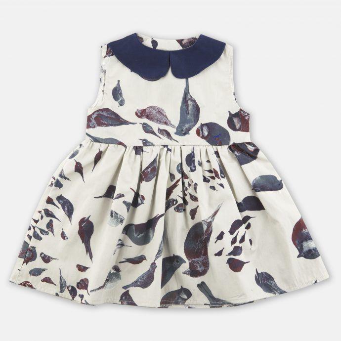 sukienka bez rękawa ptaszki