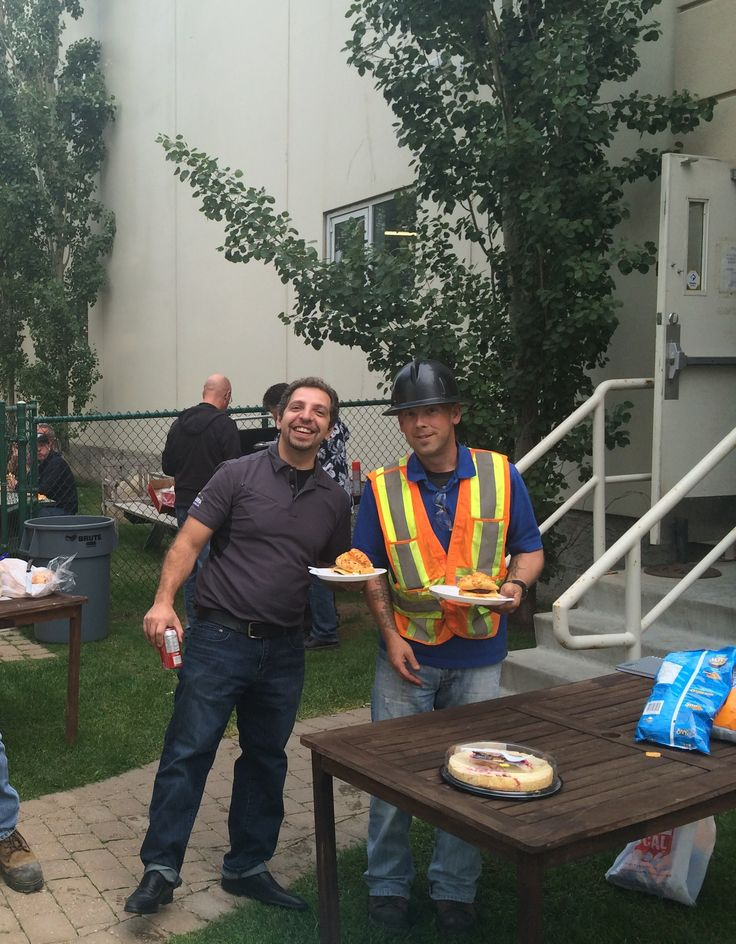 #ThrowbackThursday to our Friday Staff lunch BBQ this past summer!   Check out Angelo Cultrera, Director of Power and Building Solutions and Jamie Clement, our Building Solutions Specialist enjoying a sunny day in our picnic area.