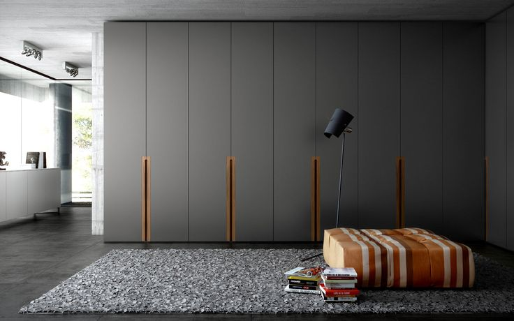 Contemporary wardrobe / in wood / with swinging doors PLA  by Fernando Salas and Jordi Dedeu CARRE furniture