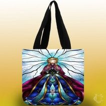 #Anna #disney #frozen #stained #glass #Tote #Bags #elsa #staylist #awesome